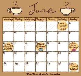 Cafe Calendar - June