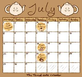 Cafe Calendar - July