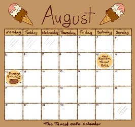 Cafe Calendar - August