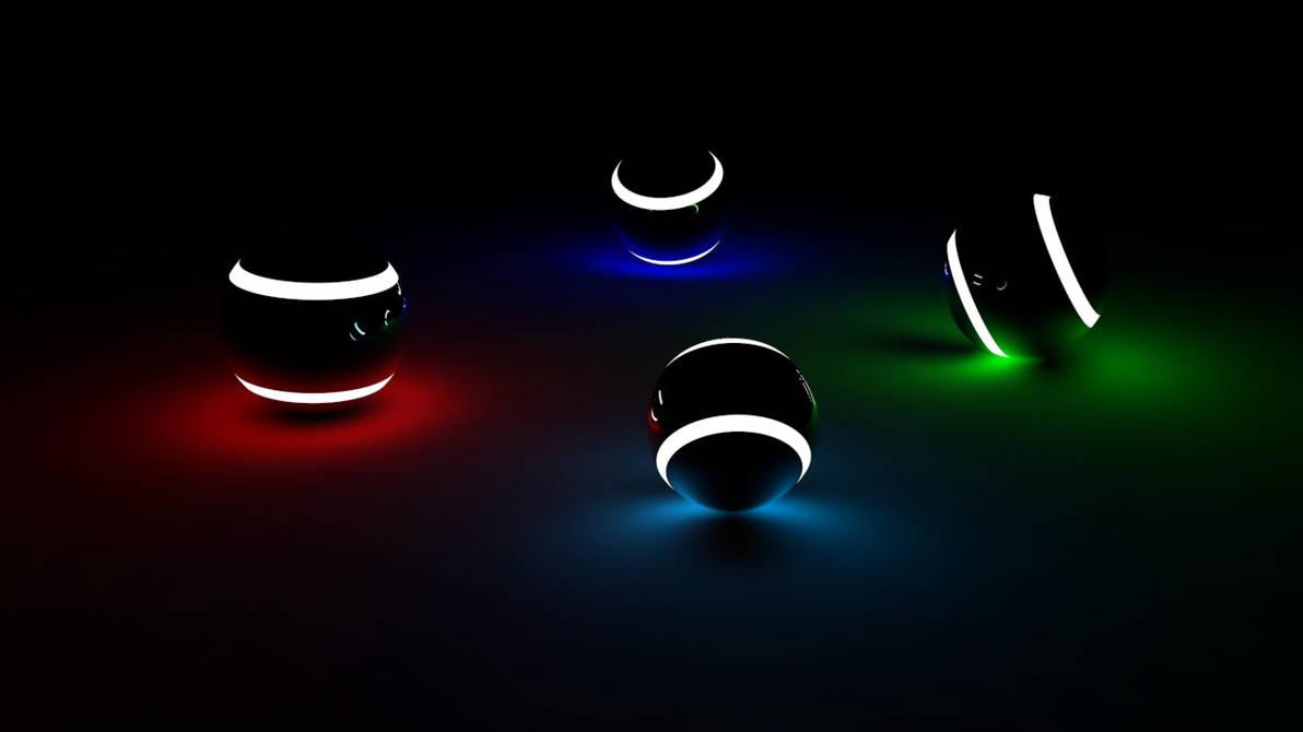 Cinema 4D R12 - GI Rendering Practice -Light Balls by