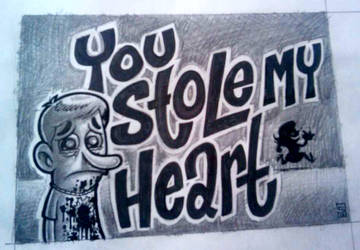 You Stole My Heart Sketch by Paste-d