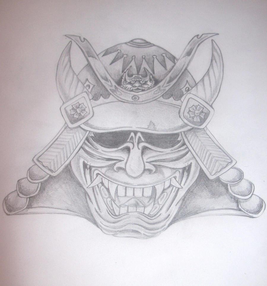 Japanese Samurai Mask Tattoo Designs