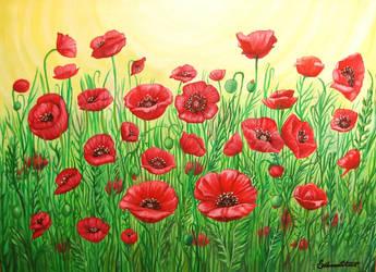 Poppy field. by ssilverartist