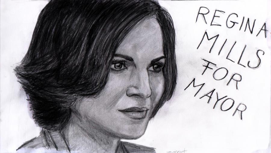Regina Mills for Mayor by zsorzset