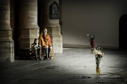 A Scene In Oude Kerk Amsterdam