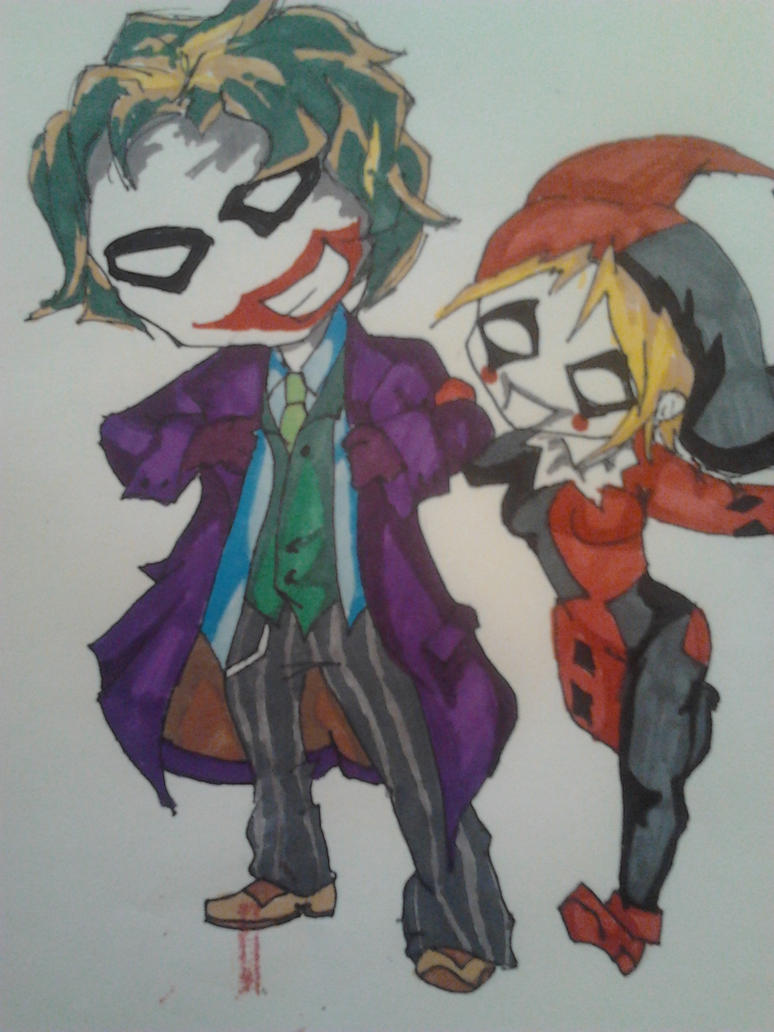 Chibi The Joker and Harley Quinn by Ailish94 on DeviantArt