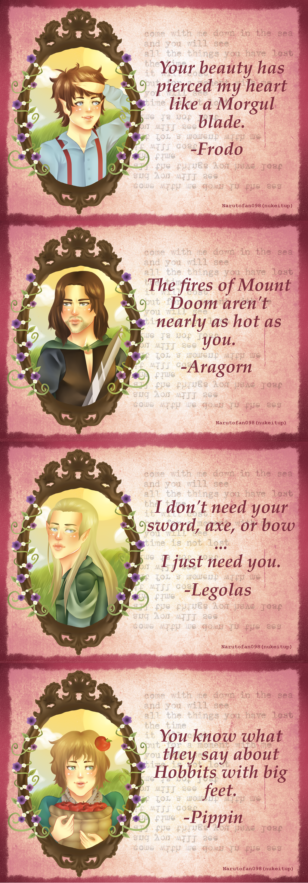 ... Lord Of The Rings Valentineu0027s Day Cards By Narutofan098