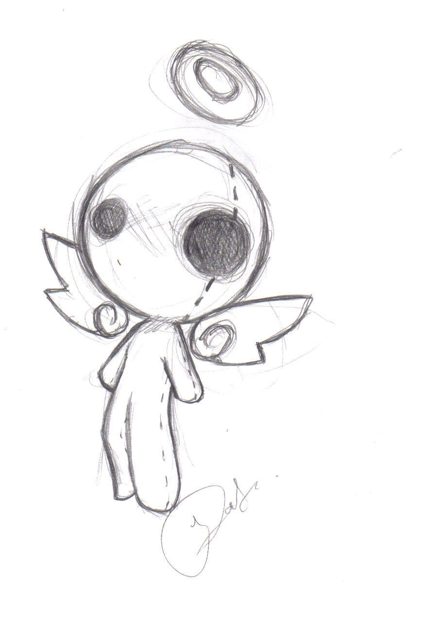 Voo angel form once again by suicidal voodoo doll on for Cool stuff to draw that s easy