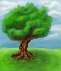 Tree painting by denmander
