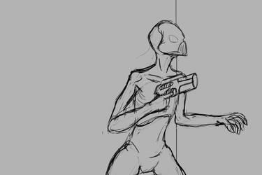 Alien Soldier by denmander