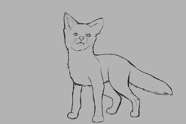 little fox sketch by denmander