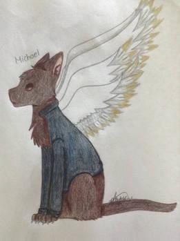 Archangel Michael as a cat