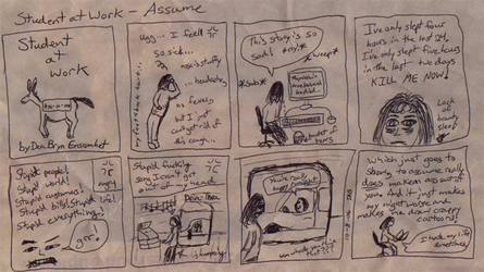 Student at Work Comic: Assume