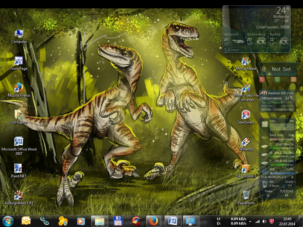 Raptor Desktop by Sturmblut