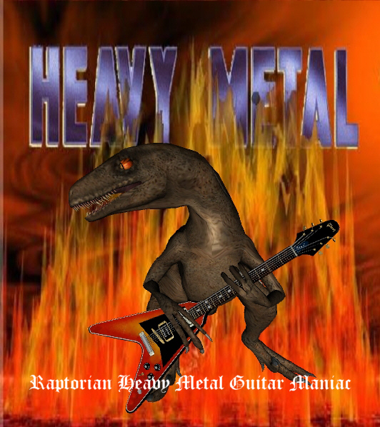 Raptorian guitar maniac by Sturmblut