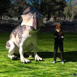 Star Child and Stone Dinosaur
