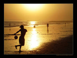 Sunset Soccer by wHaTeVeR-