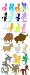 All mlp sapient species by AleksaBG