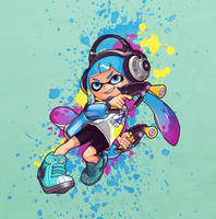 Splatoon 2 - Blue ink by loqysha