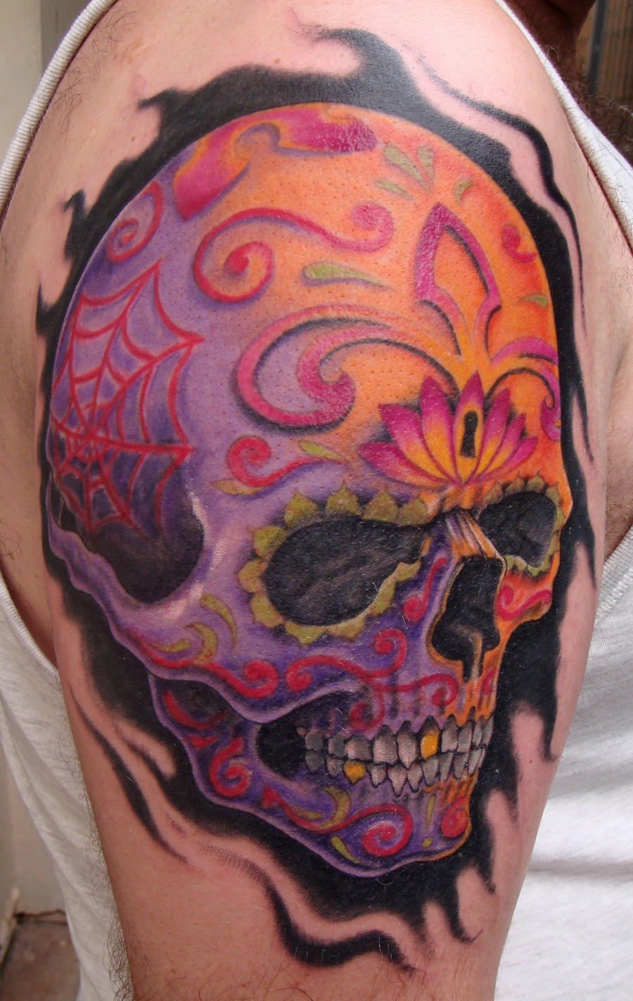 Sugar skull by aenema777 on deviantart for Candy skull tattoo