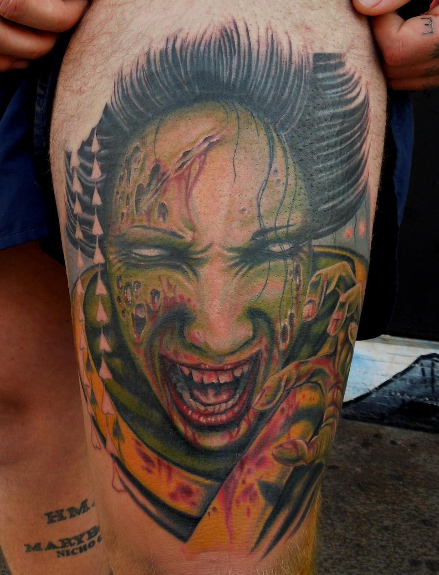zombie geisha 2 tattoo by aenema777 on deviantart. Black Bedroom Furniture Sets. Home Design Ideas