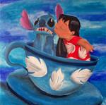 Lilo and Stitch in Tea Cup
