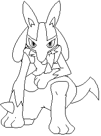 Free lucario lineart by pokemonfreakeveryday on deviantart for Pokemon coloring pages lucario