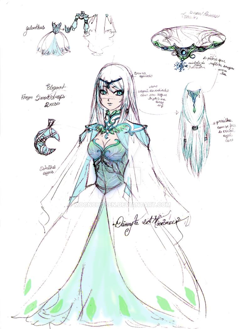 Long Dresse Elegant Sketches