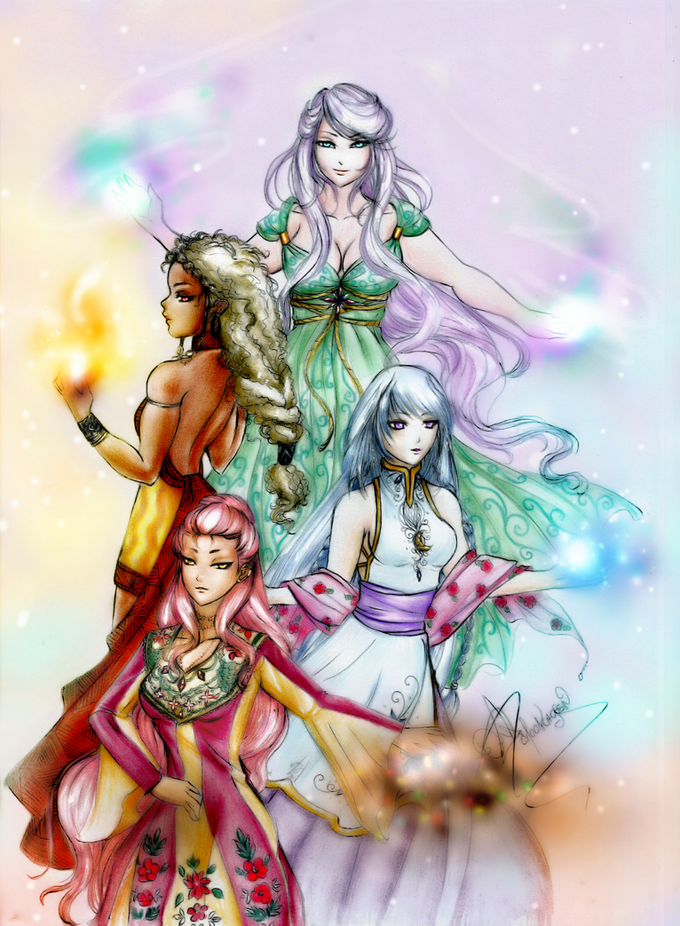 The Four Mighty Princesses by Moonchosen