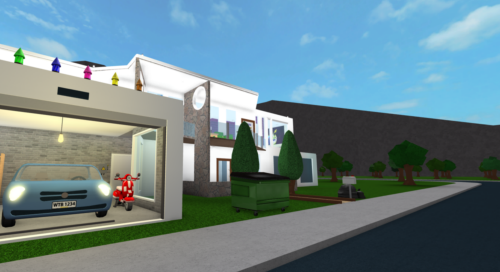 Roblox Bloxburg Modern House By Audyuse By Audyuse On Deviantart