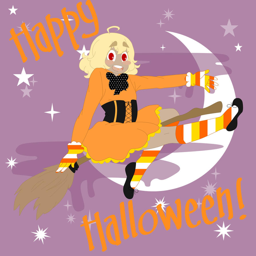 Aimi The Candy Corn Witch by All-Seeing-Cyclops