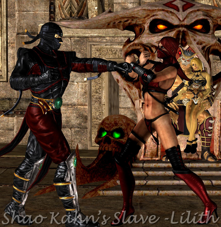 Skarlet Vs Ermac Fighting for The Kahns by ShaoKahnsSlaveLilith