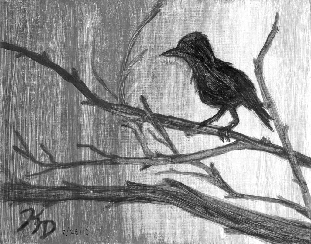 Bird paintings black and white - photo#19