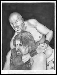 Choke him out! by MikeMarsArt