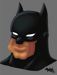Cartoony Batman by MikeMarsArt