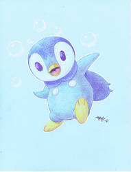 Piplup by MikeMarsArt