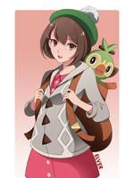 Pokemon Grookey/Trainer by Elver-Lee