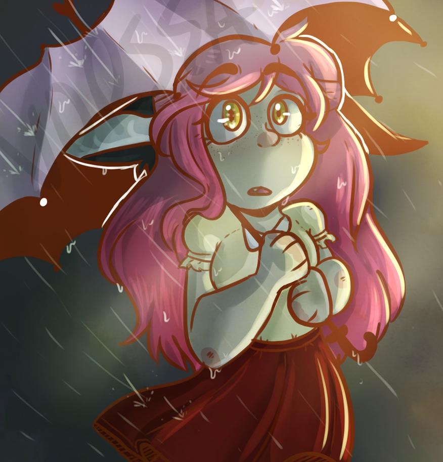 Kawaii~chan in the rain by Keapoki on DeviantArt