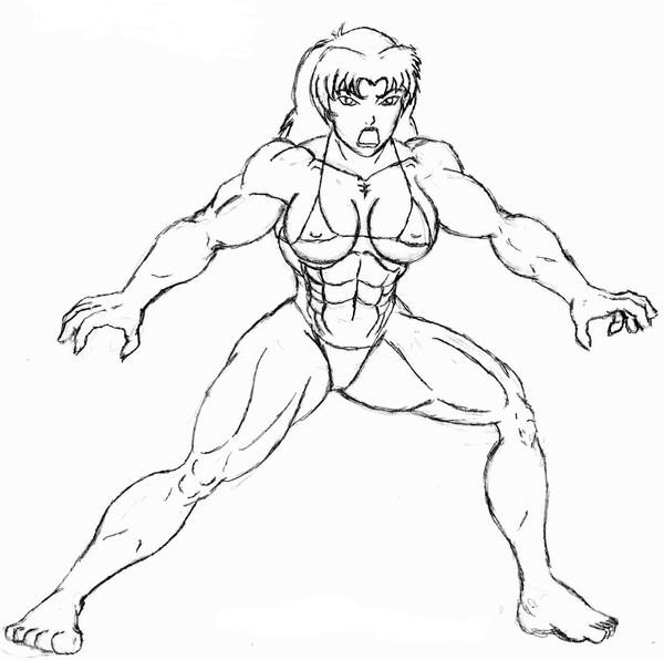 SheHulk SMASHPencil Sketch by OrionPax09 on DeviantArt