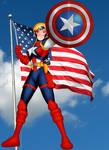 Mari as Captain America