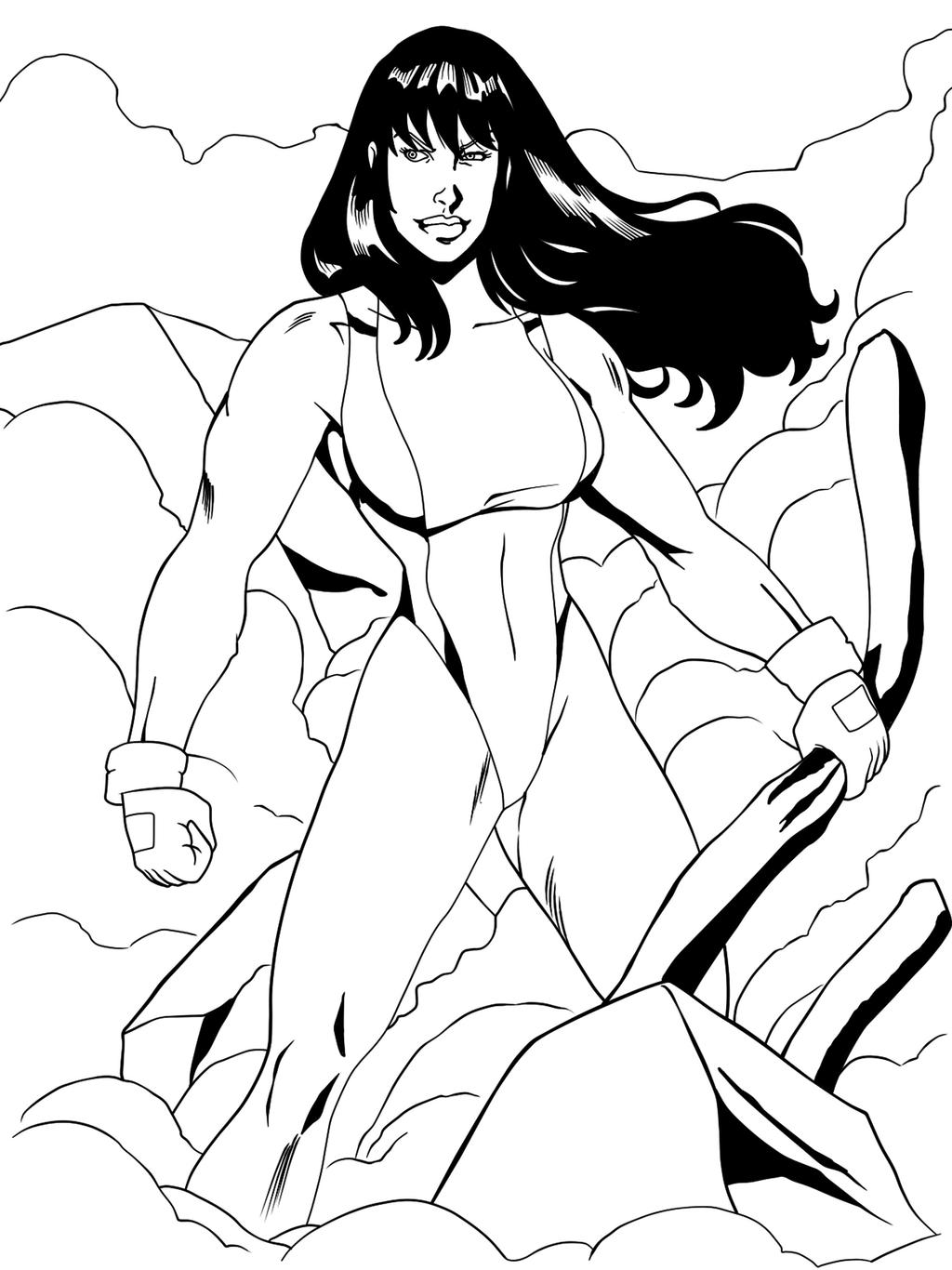 She Hulk After A Battle