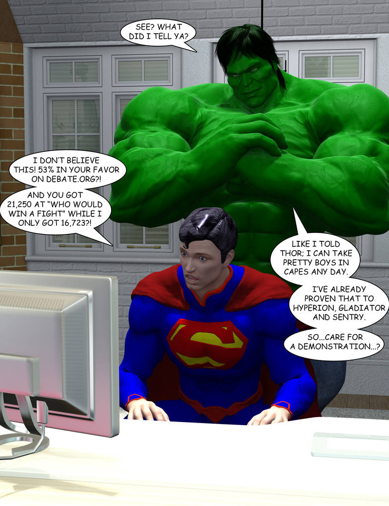 Hulk Vs Superman Debate By Orionpax09 On Deviantart
