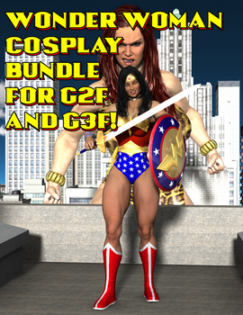 Wonder Woman Cosplay Bundle for G2F and G3F