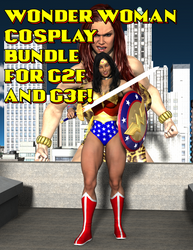 Wonder Woman Cosplay Bundle for G2F and G3F by OrionPax09