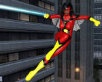 Spider-Woman: Aerial Combat by OrionPax09