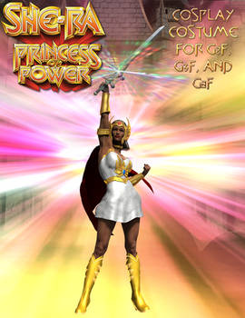 She-Ra Cosplay Costume for G2F - G8F