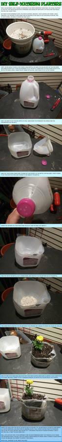 DIY Self-Watering Planter Tutorial