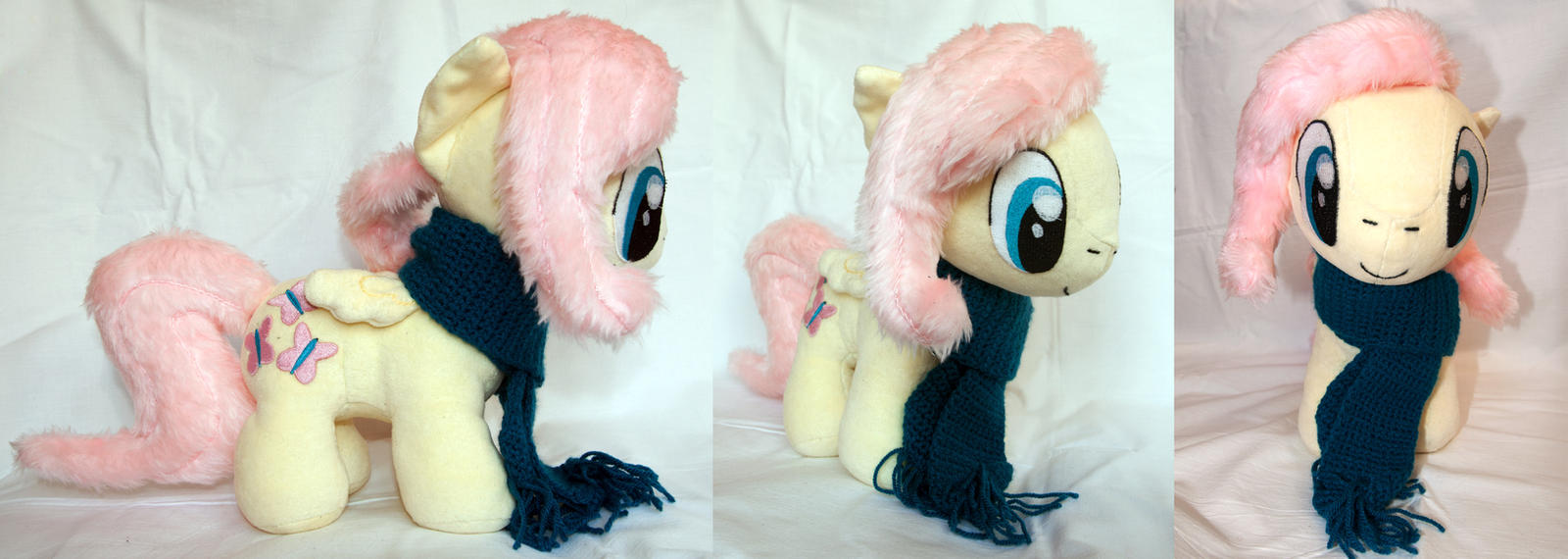 Fluttershy - Chibi/Filly Plush by TadStone