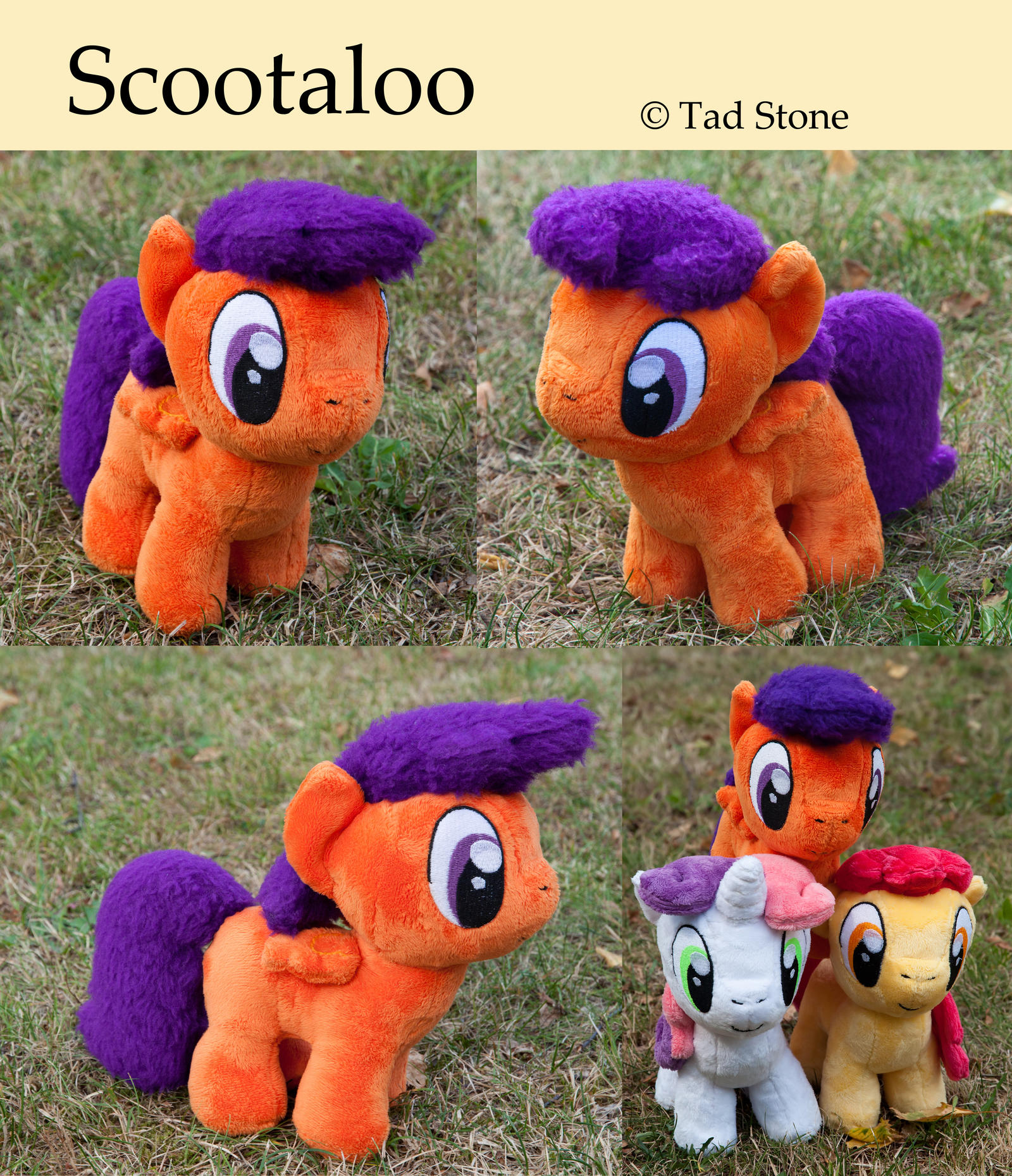 Scootaloo - Plush by TadStone