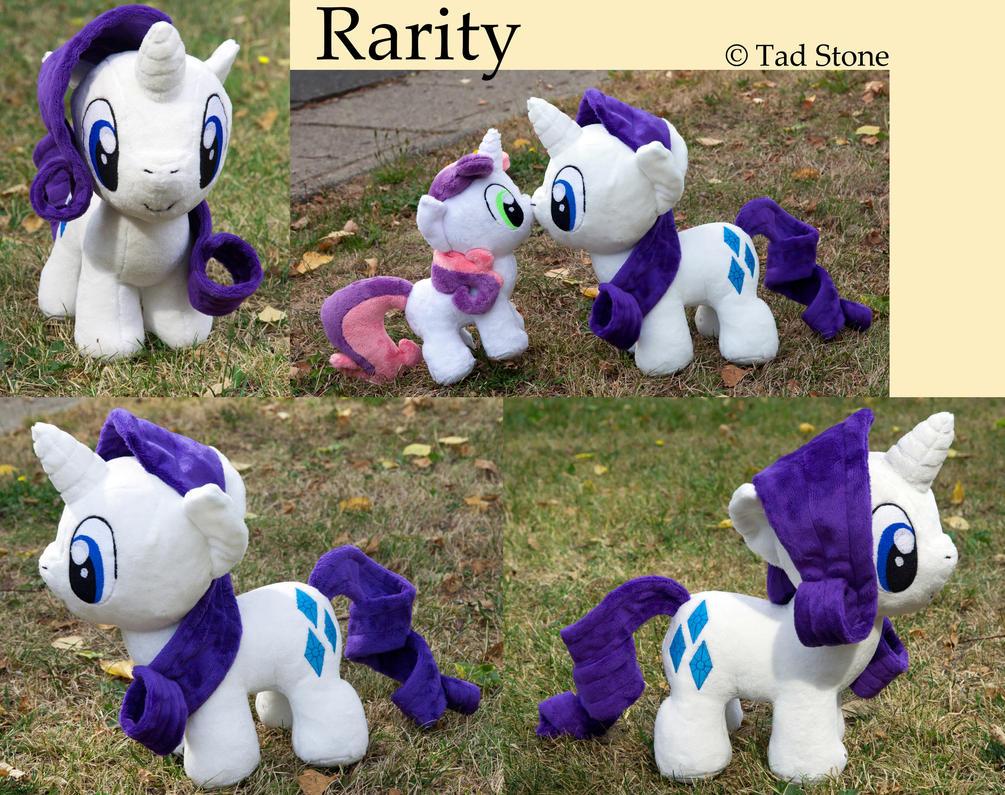 Rarity - Chibi/Filly Plush by TadStone